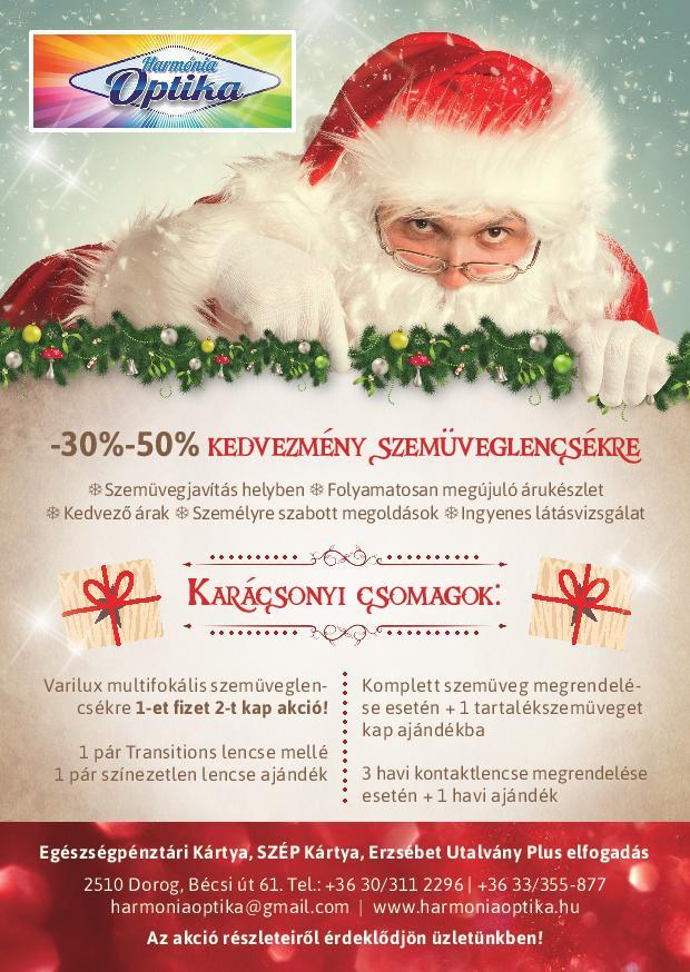 A karácsonyi csomag ajánlatainkkal megpróbálunk minden kedves vásárlónknak  a kedvében járni. Minden korosztály megtalálja a neki megfelelő ajánlatot 0dd6f25793